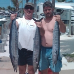 A great day of wahoo fishing. Too bad it wasn't spearfishing (even though they tried to fool me :)