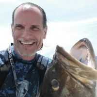 May 2, 2014 - Grouper Opening (the day after anyway). Spearfishing selfies are very hard to do especially in 4 foot seas and 20 knot winds! Still worth it. I got mine!